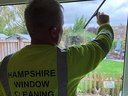 HWC will clean the inside of your windows